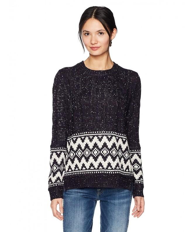 Moon River Womens Pattern Sweater