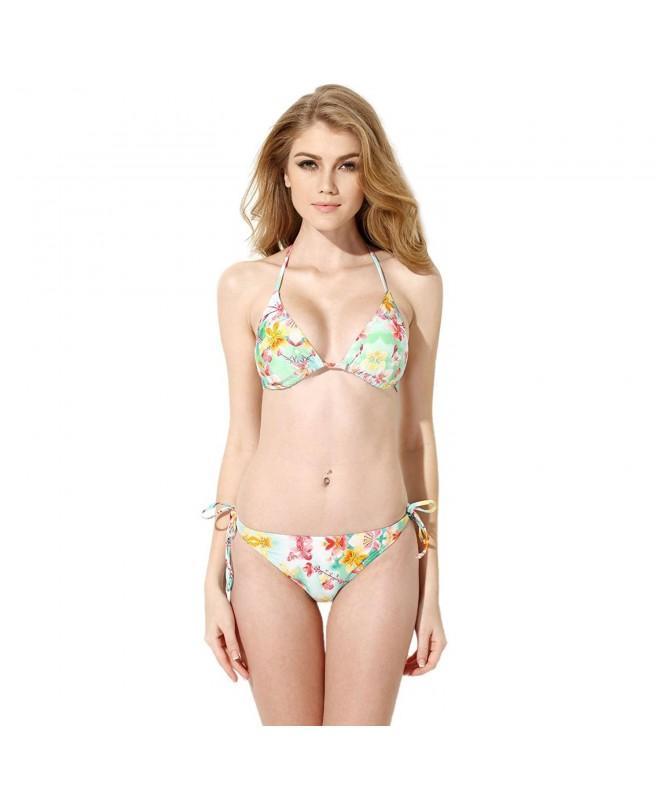 OFTEN Floral Triangle Swimsuits Swimwear