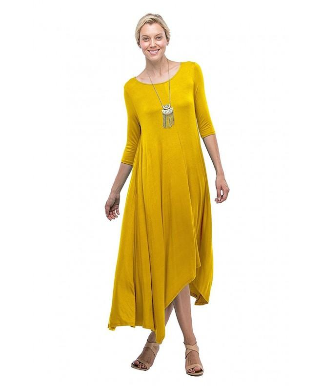 Sleeve Flared Pockets Mustard Medium