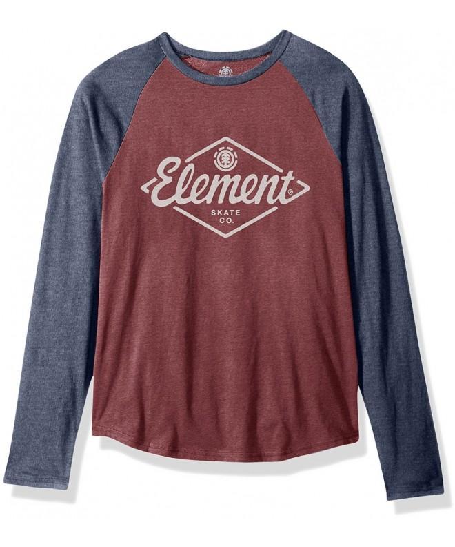 Element T Shirts Rhombus Oxblood Heather
