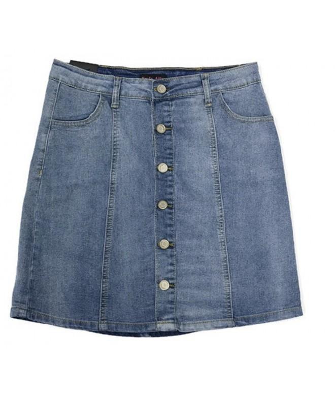 Ailis Womens Stretch Button Pocket