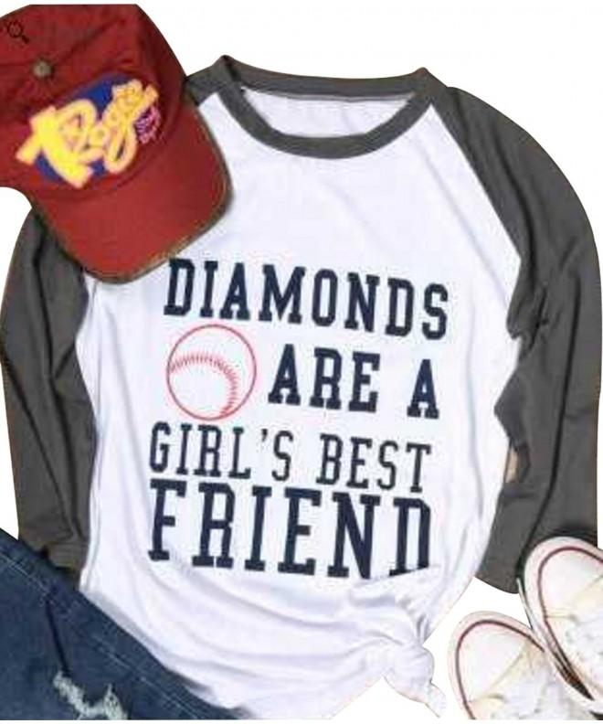 Diamonds Friend Womens Letter T Shirt