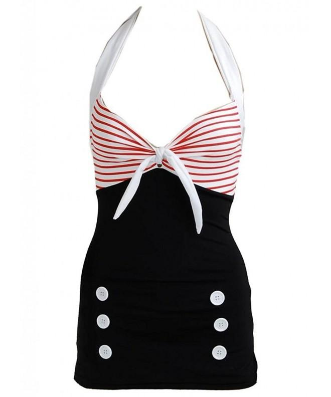 Pinupclothingonline Stripe Womens Swimsuit Swimwear