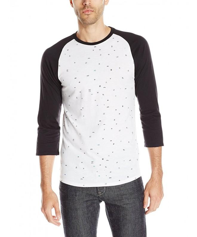 Split Splater Raglan Sleeve White