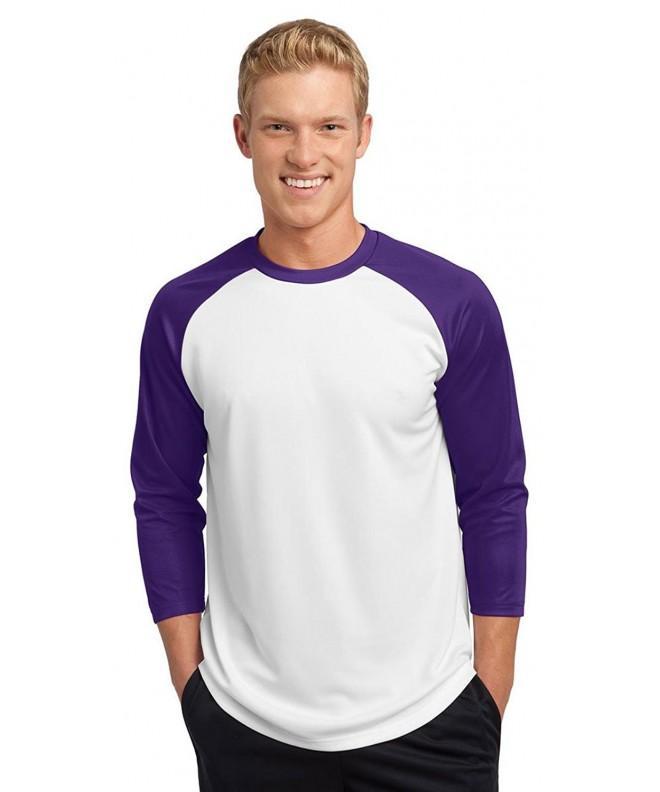 Sport Tek Raglan Baseball Jersey_White Purple_Medium