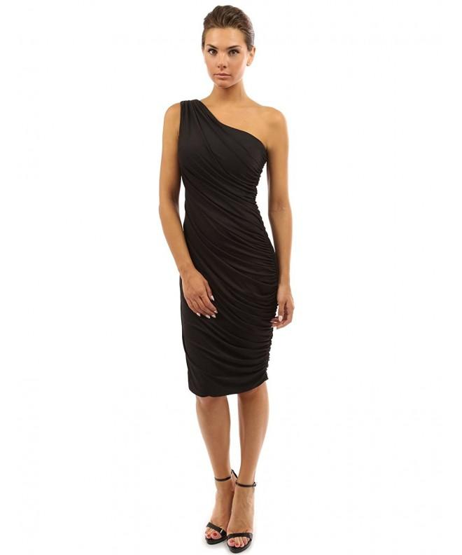 PattyBoutik Womens Shoulder Cocktail Dress