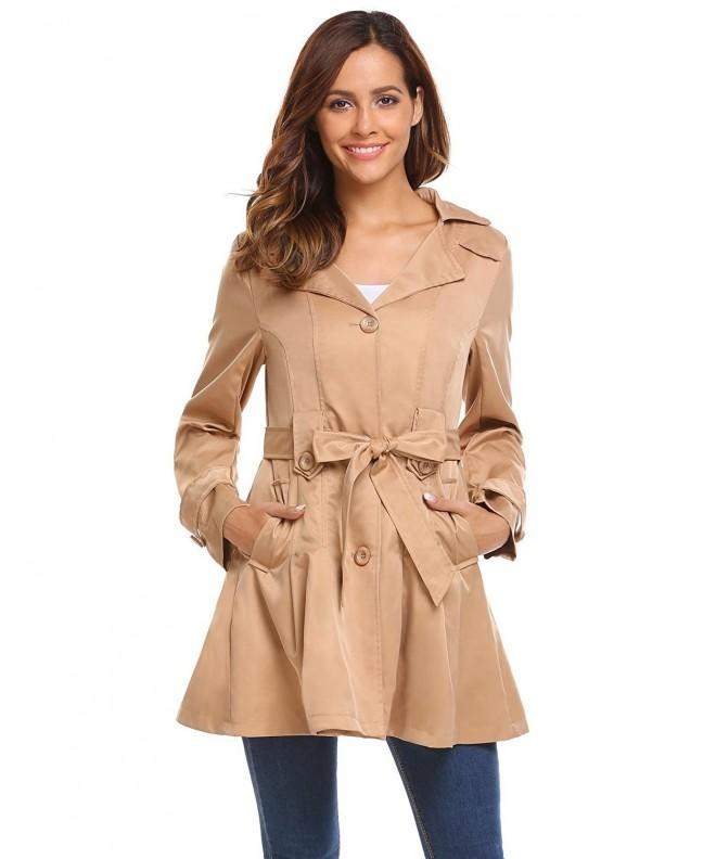 Bifast Ladies Flare Trench Khaki