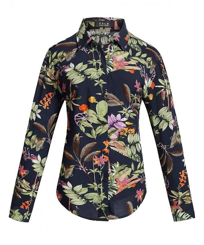 SSLR Womens Floral Vintage Blouses