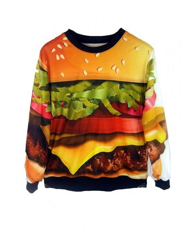 Pink Queen Hamburger Pullover Sweatshirt
