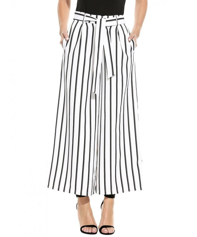 Flyerstoy Casual Striped Vintage Palazzo