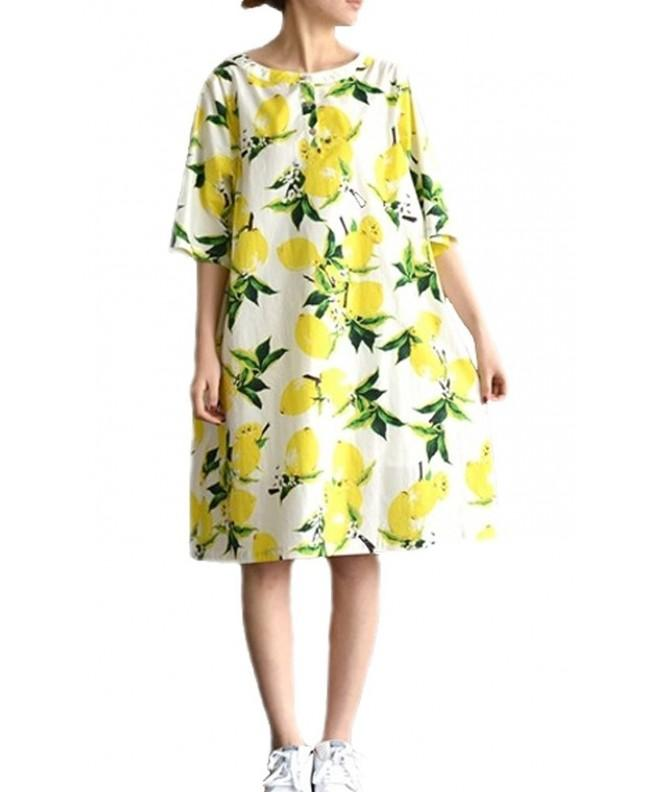 c5883d6a66 ... Women s Loose Linen Summer Floral Print Knee Shift Dresses - Flower -  CE12IKTW2OV. On sale! New. Plaid Plain Womens Summer Dresses