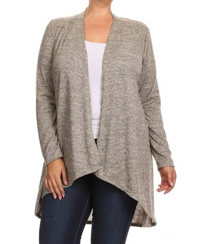 Womens Closure Cardigan Sweater Beige