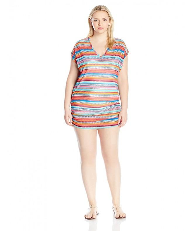 Anne Cole Womens Triangle Stripe
