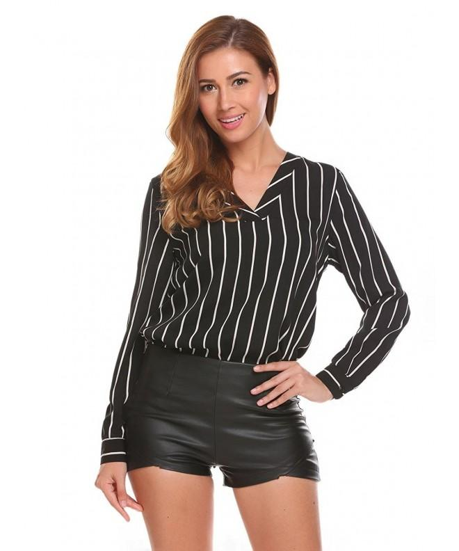 Yealsha Womens Pullover Casual Stripe