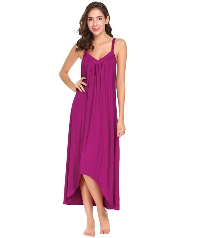 Ekouaer Sleeveless Nightgown Sleepshirt Chemise