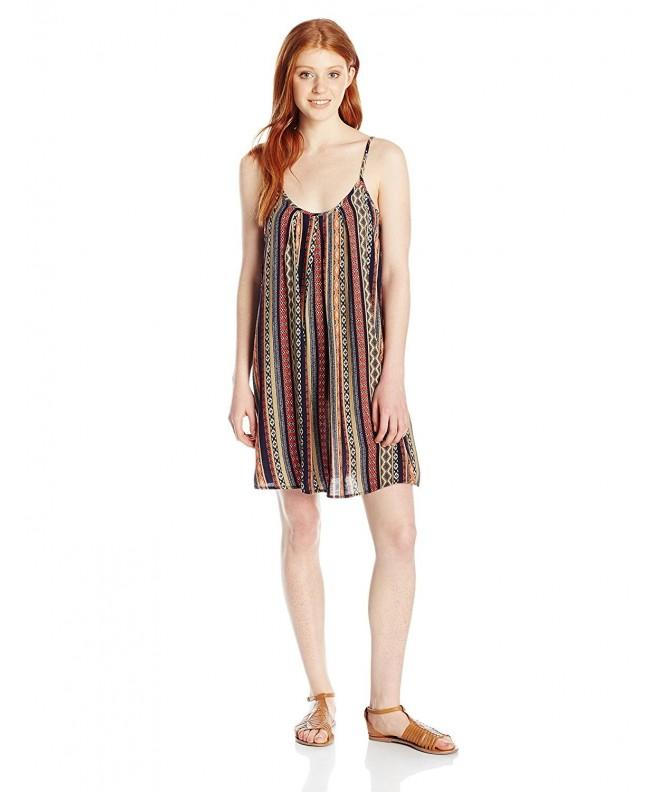 Angie Juniors Vertical Stripe Sundress