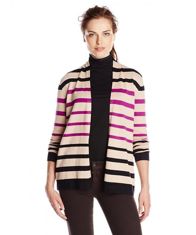Knits Hampshire Womens Striped Raspberry