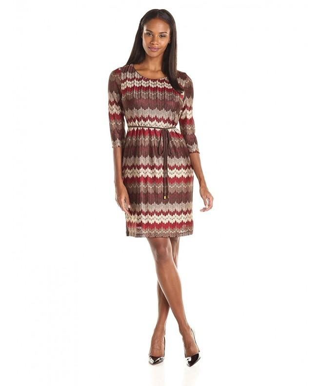 Sandra Darren Womens Printed Neutral