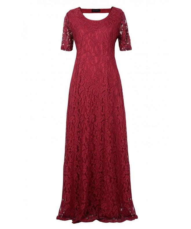 Huafeiwude Womens Evening Dresses Burgundy
