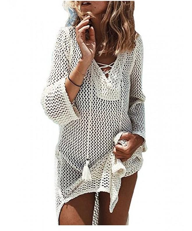 NFASHIONSO Womens Fashion Swimwear Crochet