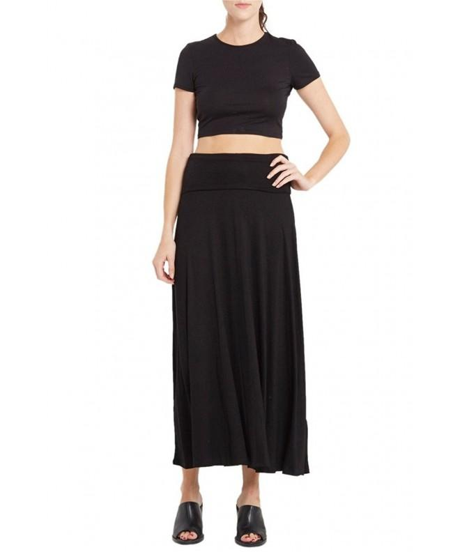 Womens Waist Comfy Stretch Skirt
