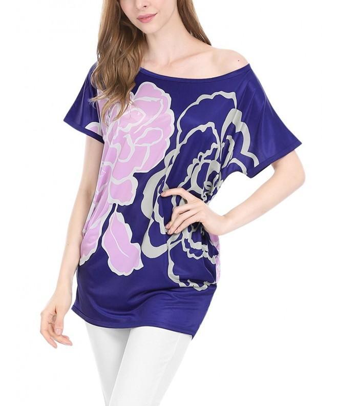 Allegra Womens Floral Batwing Sleeves