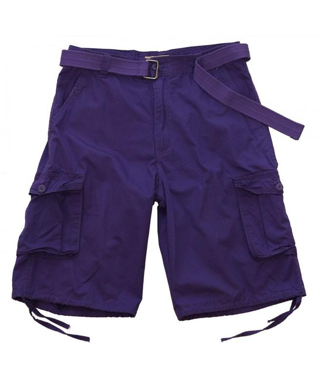 Access Washed Cargo Shorts Purple