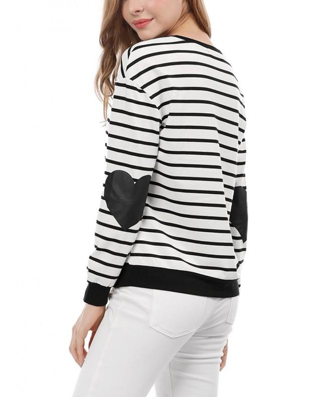 Allegra Womens Contrast Stripes Prints