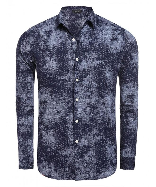 Floral Sleeve Button Dress Shirts
