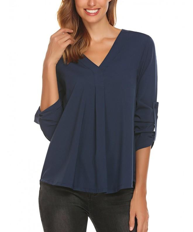 Zeagoo Womens Sleeve Solid Blouse