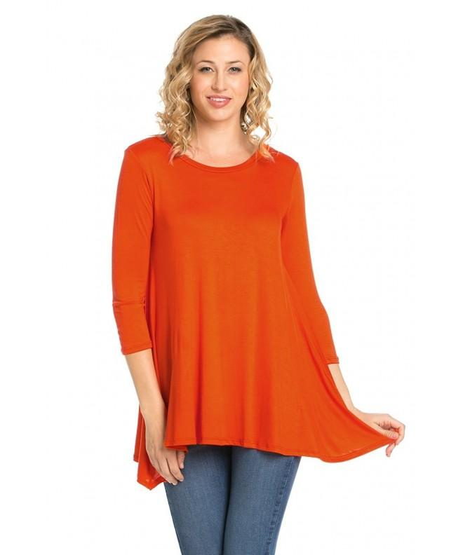 Frumos Womens Leggings Shirts Orange