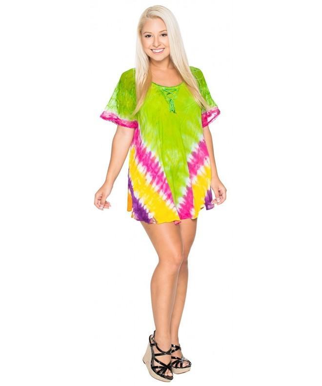 Leela Dress Womens Short Embroidered