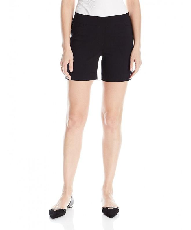 SLIM SATION Womens Pull Short Black
