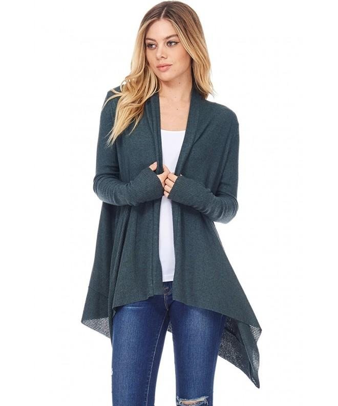 Womens Casual Cardigan Sweater Contrast