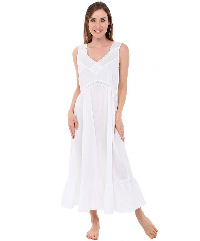 Alexander Del Rossa Nightgown A0566WHTLG