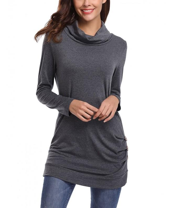 iClosam Casual Sleeve Button T Shirt