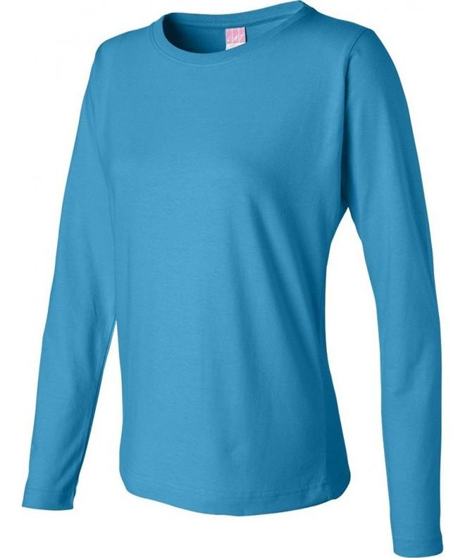 LAT Apparel Ladies Sleeve Turquoise