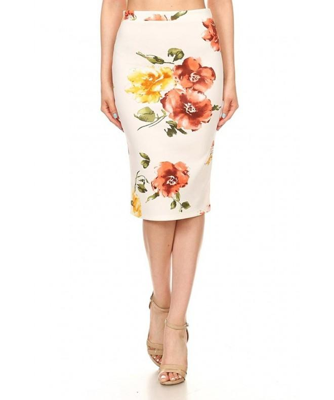 Womens Popular Floral Patterned White Floral3