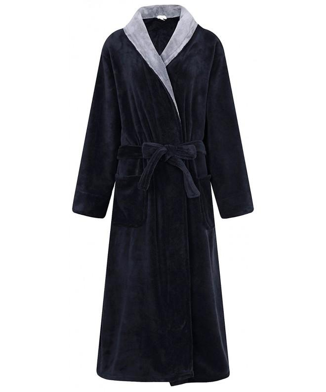 Richie House Fleece Bathrobe Black