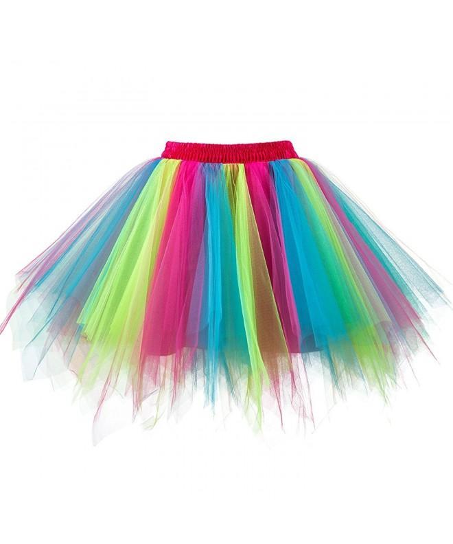 Topdress Womens Vintage Petticoat Rainbow