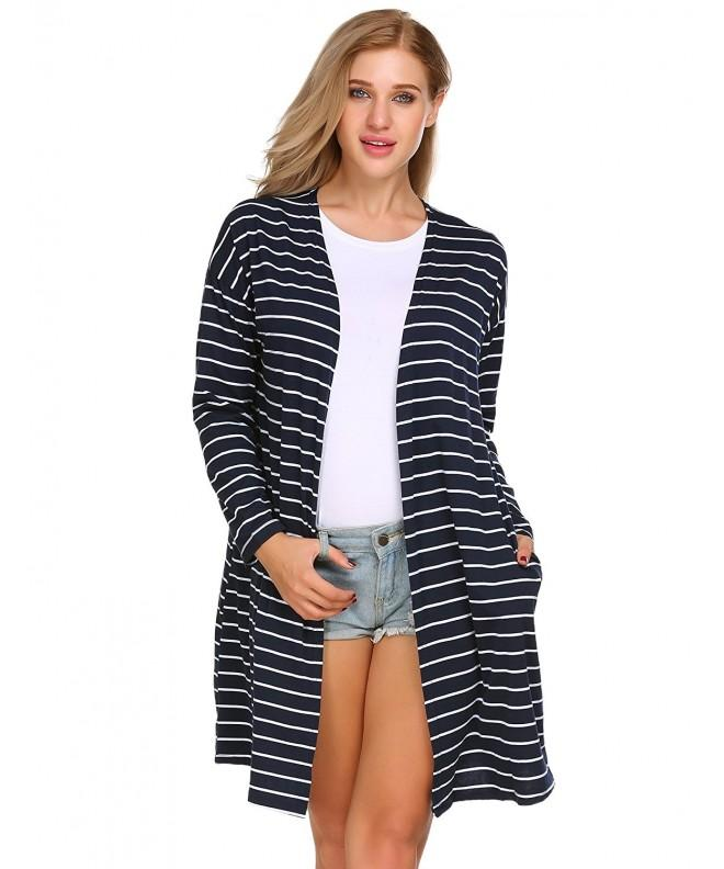 ELESOL Womens Sleeves Boyfriend Cardigan