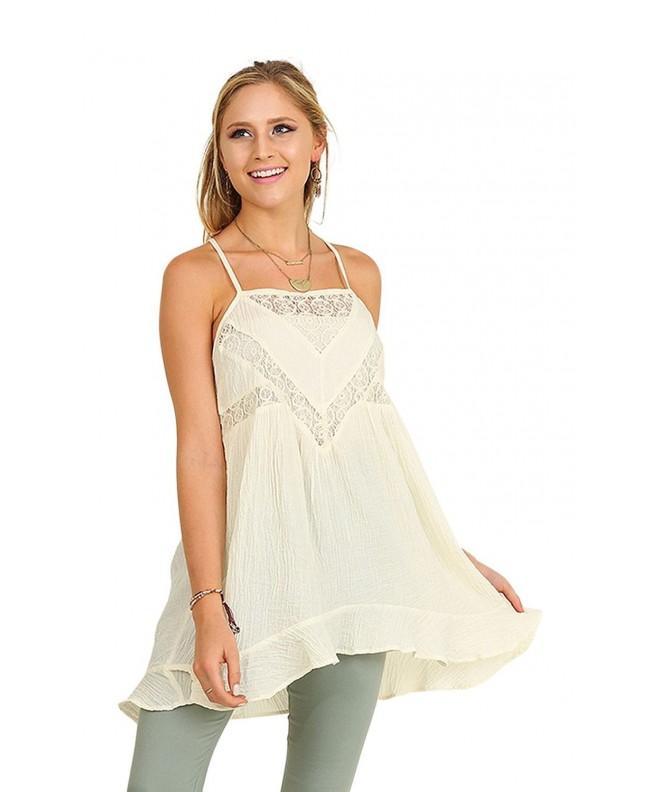 Umgee Sleeveless Dress Details Large