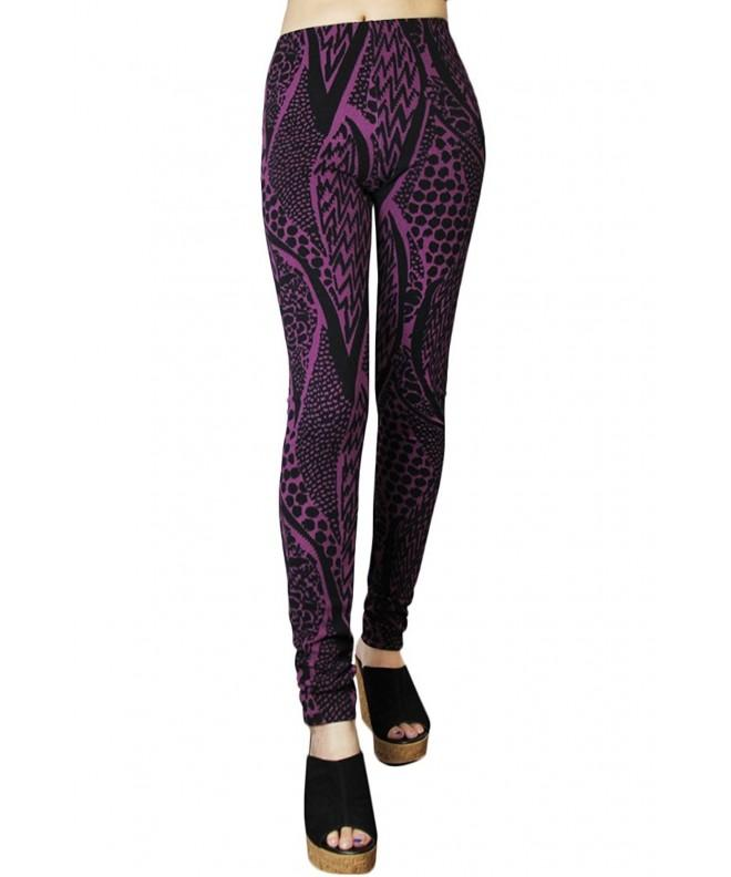 Tyche Womens Abstract Textured Legging