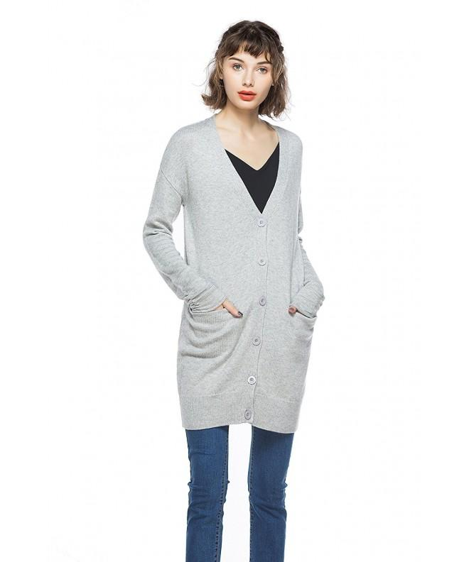 KNITBEST Womens Sleeve Button Cardigan