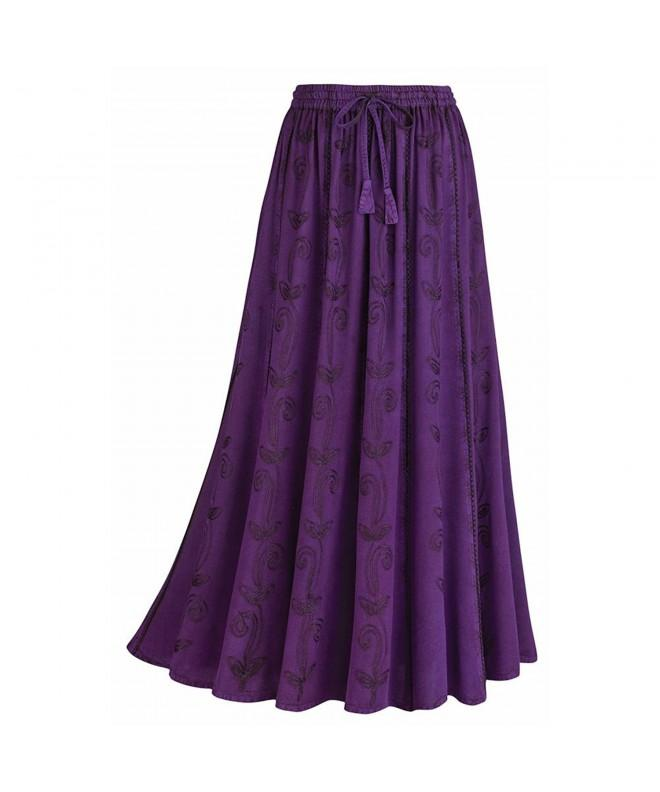 Womens Over Dyed Maxi Skirt Waistband
