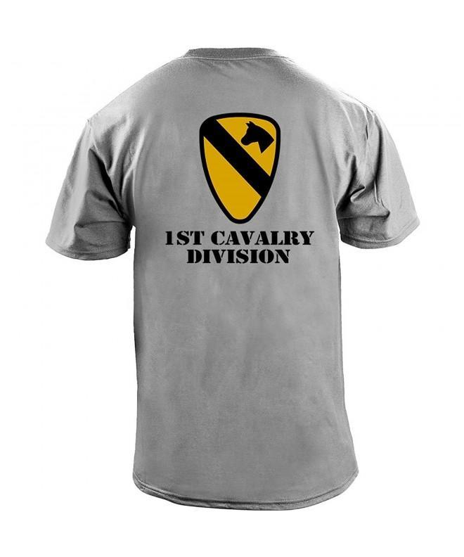 Cavalry Division Veteran T Shirt Heather
