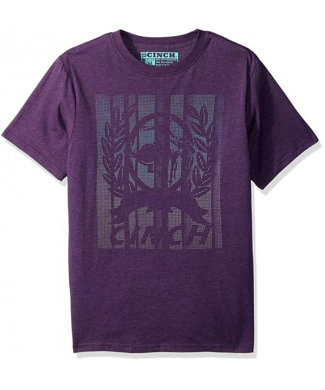 Cinch Sleeve T Shirt Heather Purple