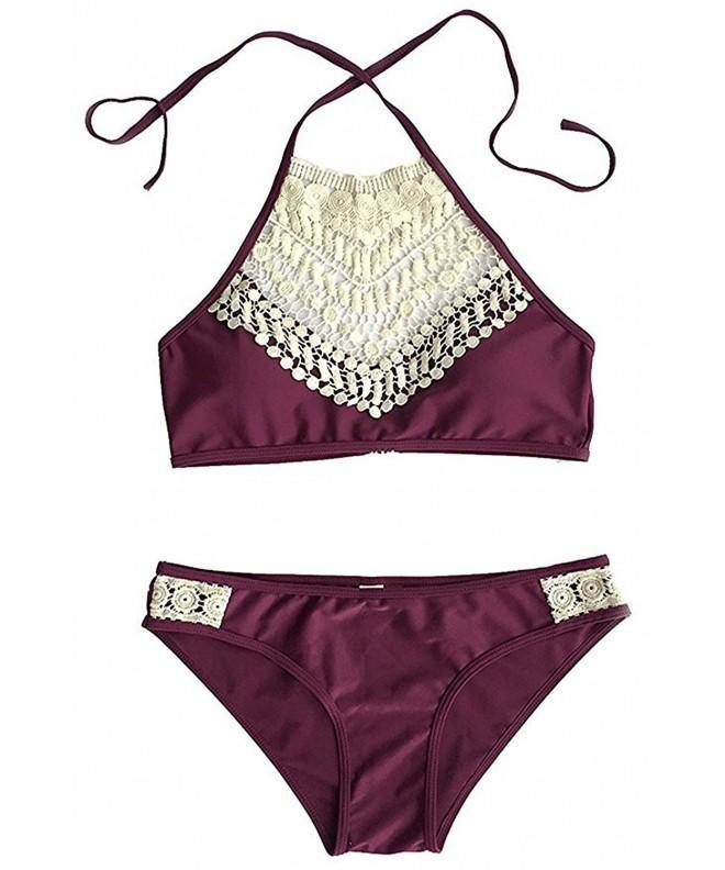 Pxmoda Womens Padded Swimsuit Burgundy
