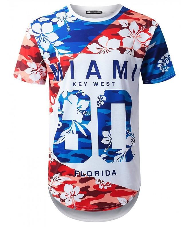 URBANTOPS Hipster Tropical Longline T shirt