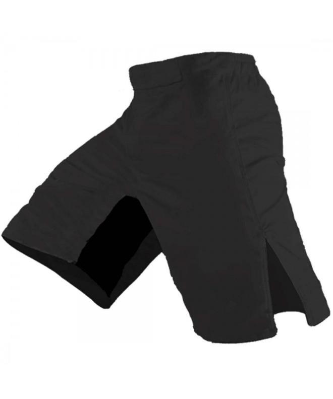 Blank MMA Shorts Black 28